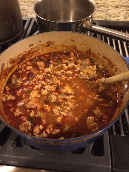 Giada de laurentiis turkey chili served with quinoa dishthistoday i was on an airplane ride returning from vacation with free tv and giada from the food network made this recipe it sounded good so we tried it out forumfinder Choice Image